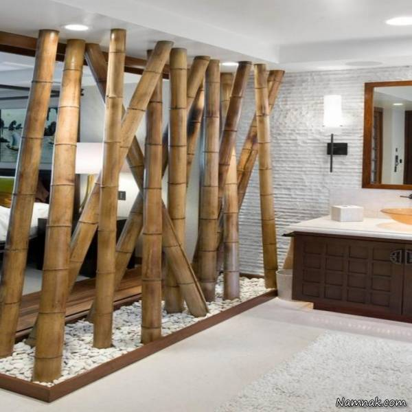 دکوراسیون منزل چوب بامبو