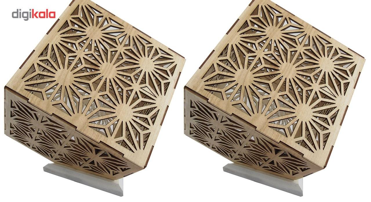 آباژور برتاریو مدل مکعبی مجموعه دو عددی