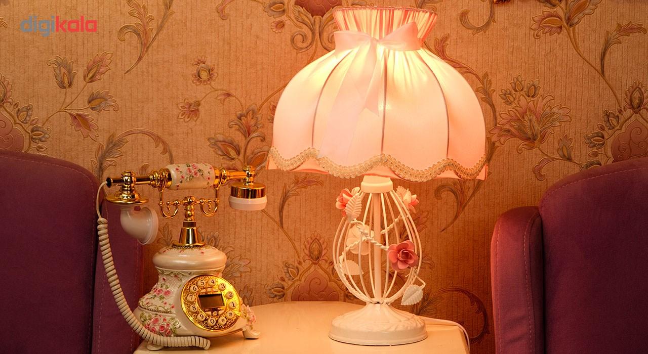 آباژور رومیزی روشا مدل Pink Luxury کد 01