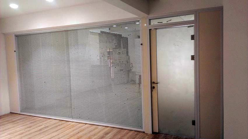 پارتیشن دوجداره آلومینیومی شیشه سکوریت C ۲۰۰
