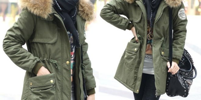 2014-Women-s-Cotton-padded-Jacket-Fur-Collar-Large-Long-Coat-Thickening-Clothing-Army-Green-Winter