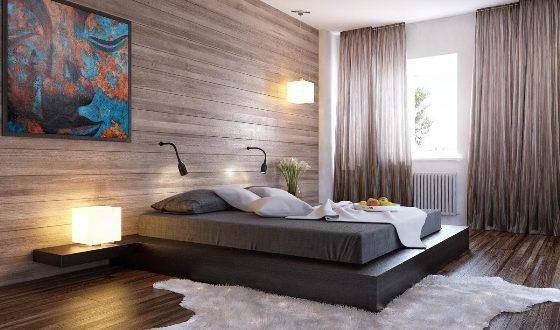 Black_bed_wood_clad_interior_wall_1_