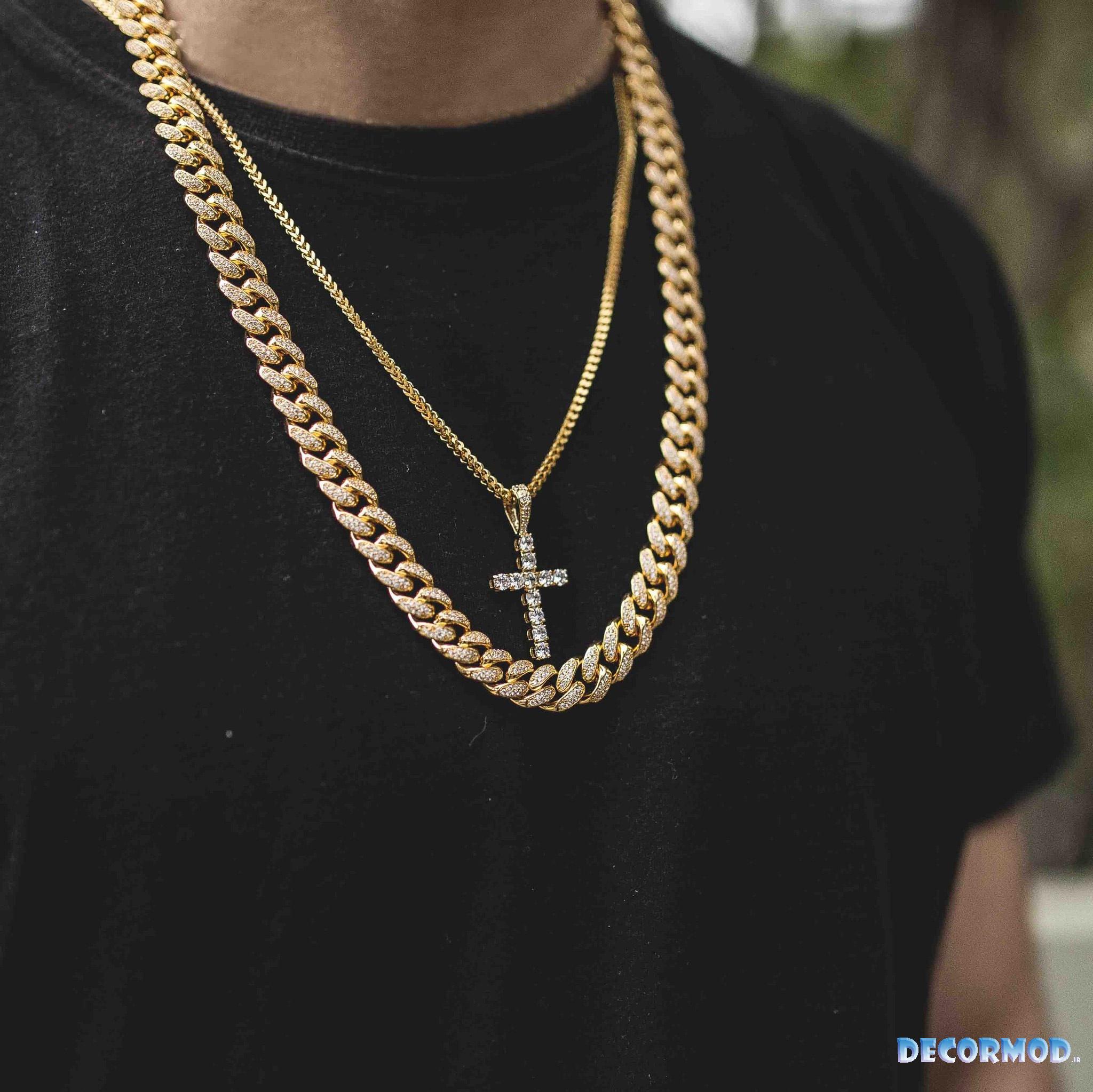 گردنبند مردانه طلا 2