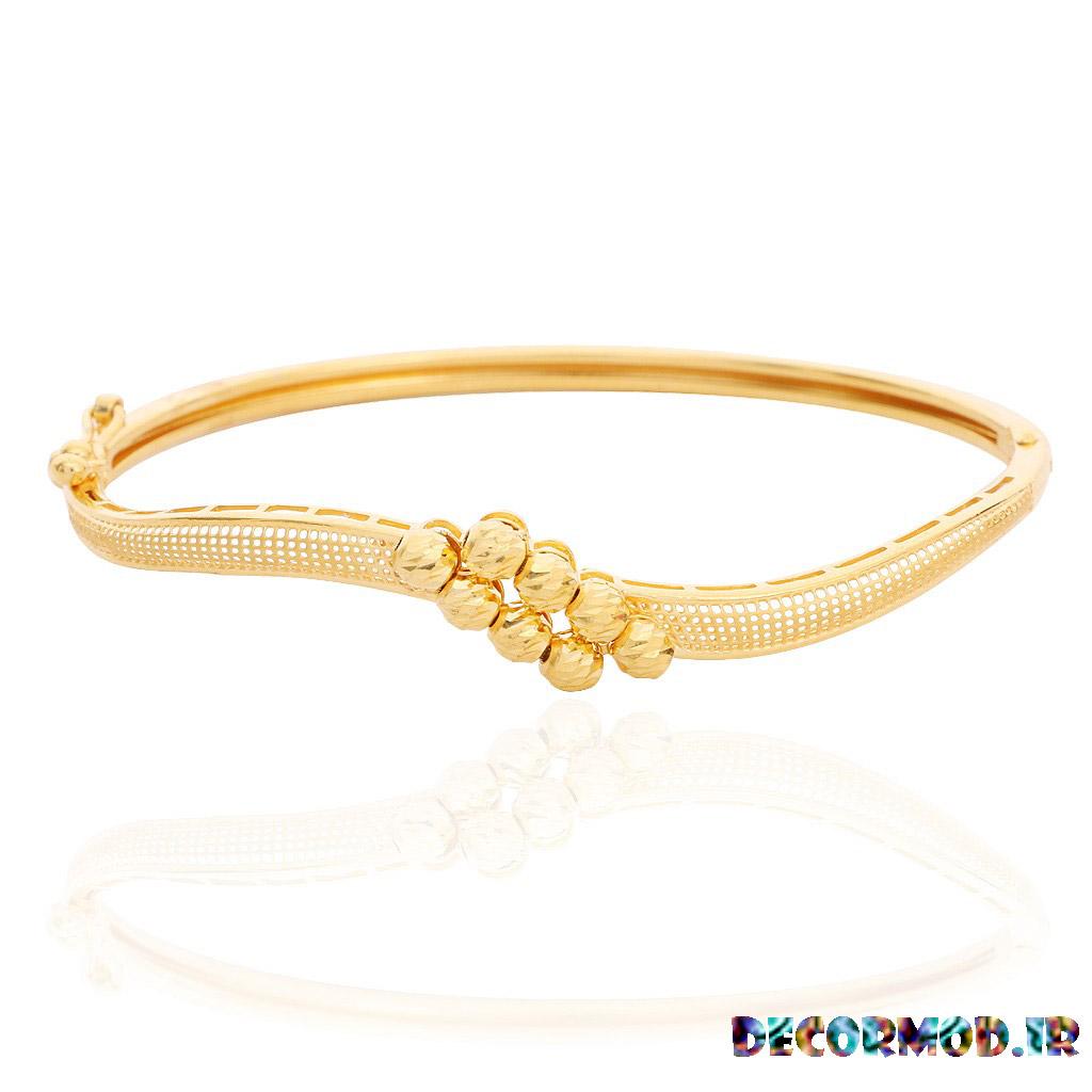 double row balls gold bracelet 31 - دستبند طلا + تصاویری از جدید ترین مدل های دستبند های طلا