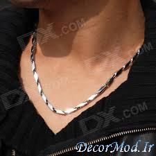 گردنبند مردانه نقره 1313