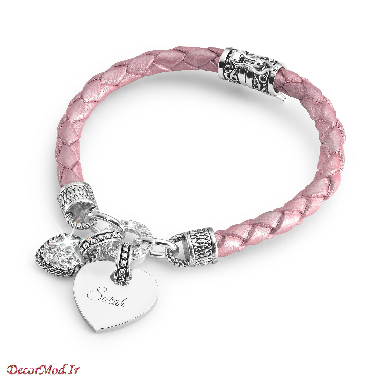 دستبند چرم دخترانه 54