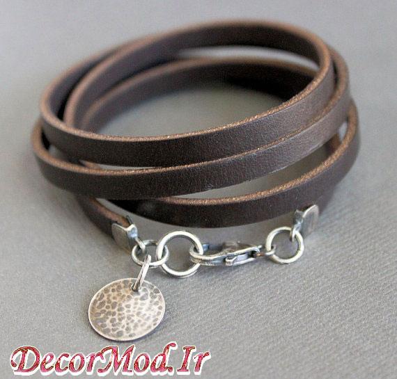 دستبند چرم دخترانه 51