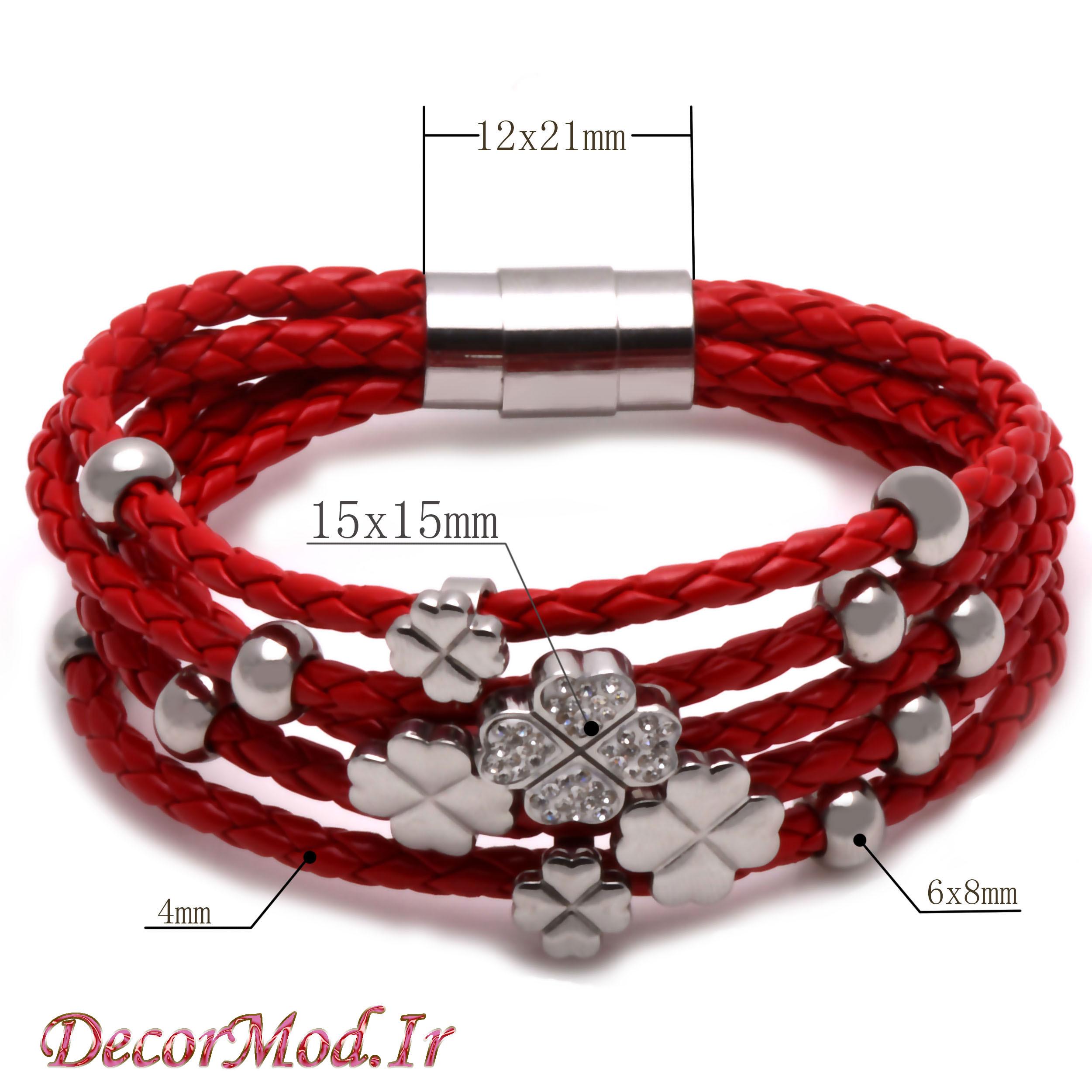 دستبند چرم دخترانه 55