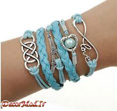 دستبند چرم دخترانه 44