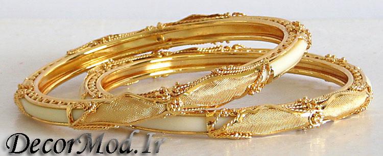 النگو طلا پهن 35