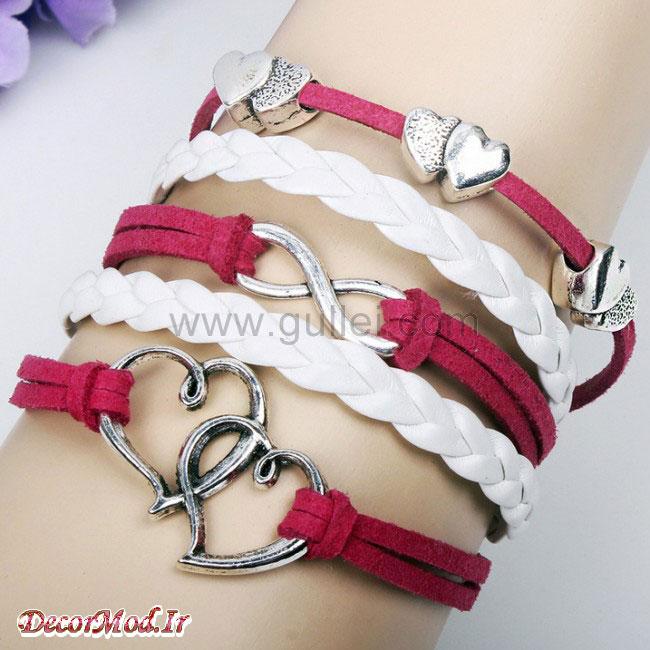 دستبند چرم دخترانه 45