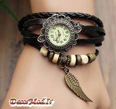 دستبند چرم دخترانه 24