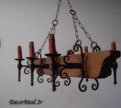 لوستر فانتزی چوبی 26