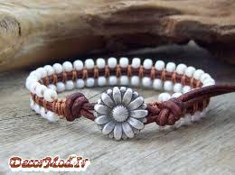 دستبند چرم دخترانه 13