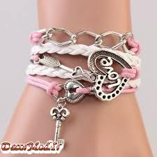 دستبند چرم دخترانه 8