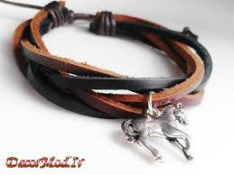 دستبند چرم دخترانه 5