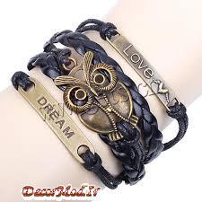 دستبند چرم دخترانه 37