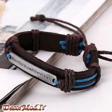 دستبند چرم دخترانه 35