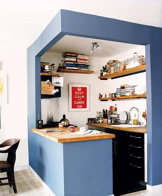 دکوراسیون آشپزخانه های کوچک 1