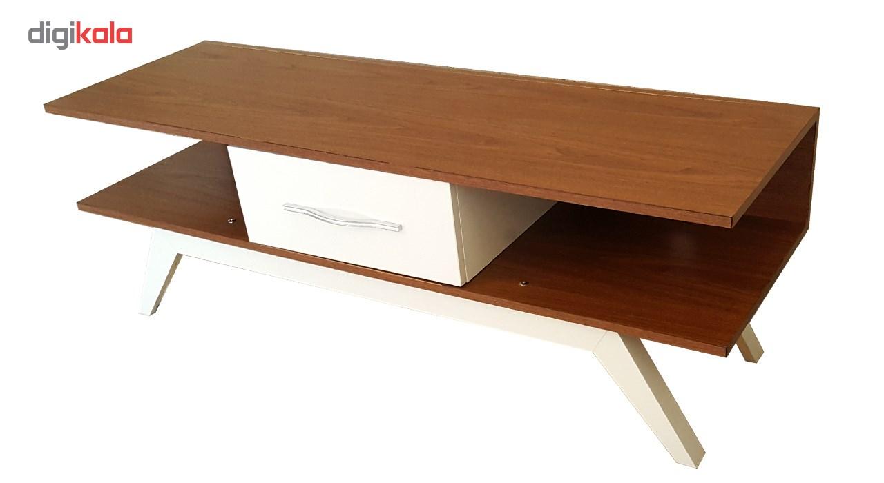 میز تلوزیون چوبی برتاریو مدل E131 قهوه ای سفید