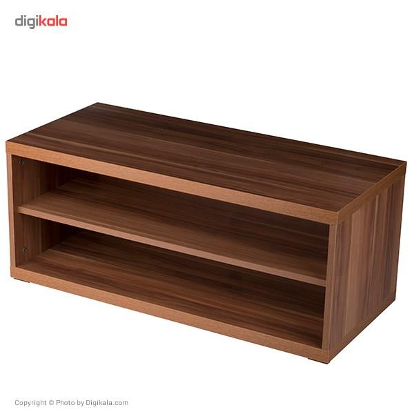 میز تلوزیون چوبی DND مدل جام جم - قهوه ای روشن