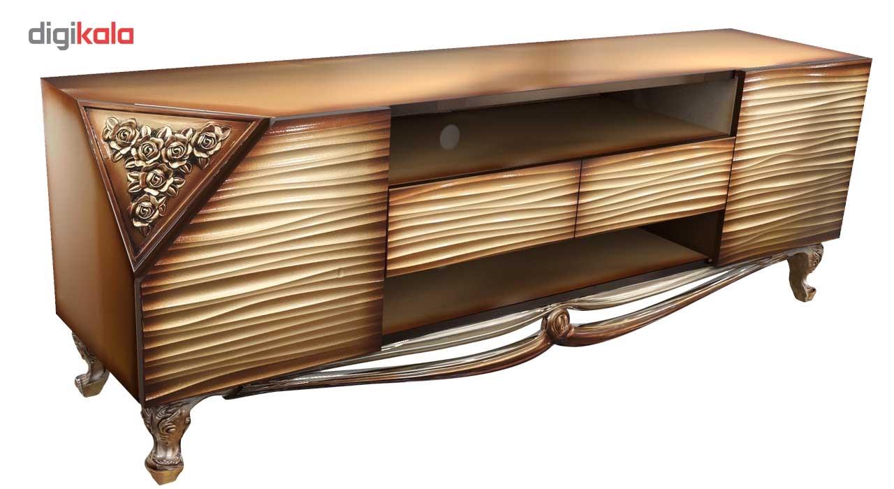 میز ال سی دی جدید میز تلویزیون برتاریو مدل پارمیدا طلایی