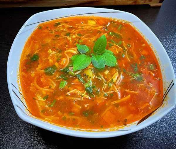 سوپ ورمیشل با مرغ